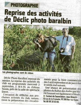 2015 08 31_Article Est Eclair_Déclic Photo Baralbin et TRA