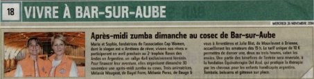 Est-Eclair_Zumba annoncée