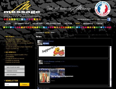 Site internet Message_Article dans rubrique News