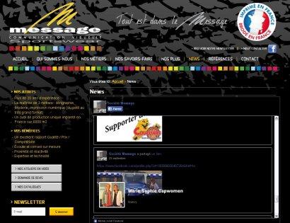 Site internet Message_Article dans rubrique News