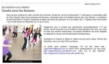 2015 03 08_Est Républicain_Zumba Bouxières-aux-Chènes