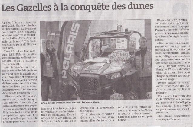 2016 03 07_Article Est-Républicain_Journal Papier